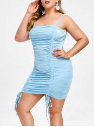 Rosegal Drawstring Plus Size Ruched Cami Dress -