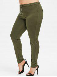 Rosegal Plus Size Zipper Fly Skinny Pants -