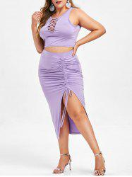 Rosegal Plus Size Cinched Bodycon Skirt -
