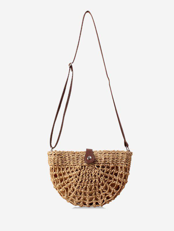 Outfits Semicircle Handmade Weave Hollowed Shoulder Bag