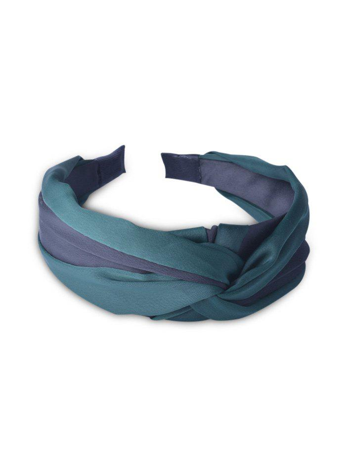 Discount Color Block Knotted Hair Band