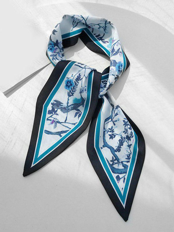 Outfit Animal Flower Print Narrow Scarf