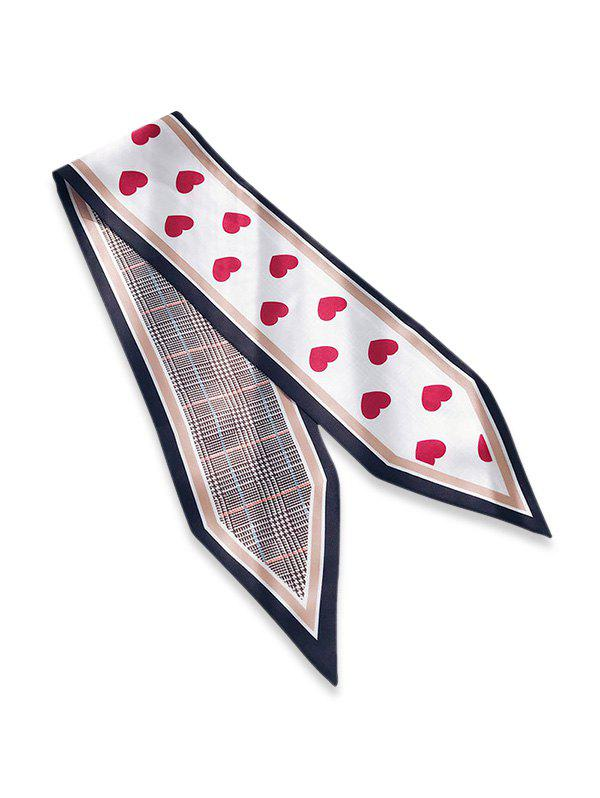 Store Houndstooth Heart Double Face Scarf