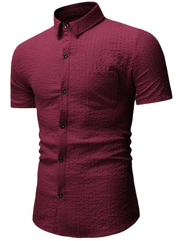 Affordable Pocket Decoration Button Casual Shirt