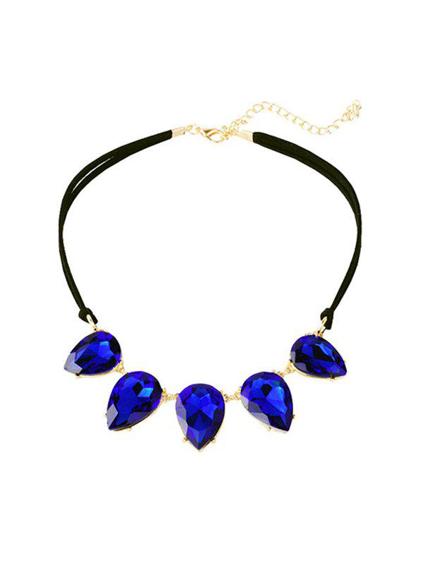 New Water Drop Faux Gem Clavicle Necklace