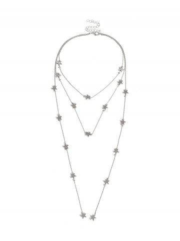 Multilayer Star Chain Necklace