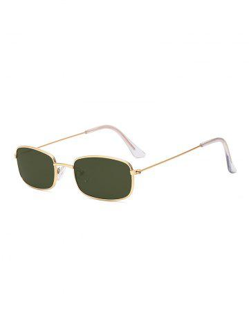 Vintage Small Metal Frame Rectangle Frame Sunglasses