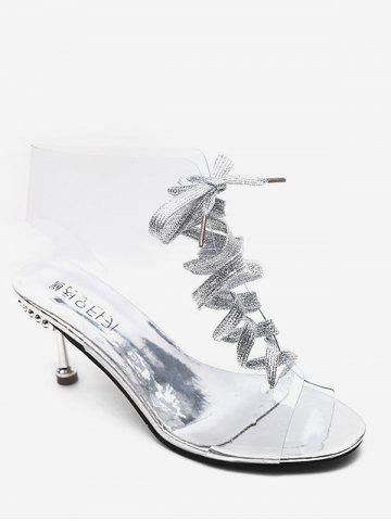 Transparent PVC Lace Up Boots