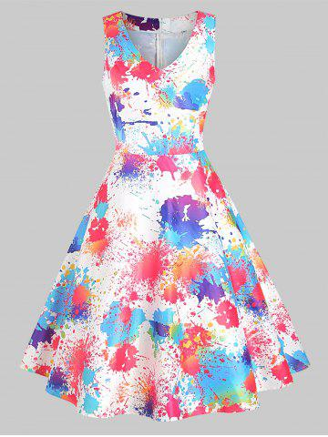 Ink Painting Sleeveless Dress