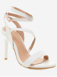 Cross Strap Stiletto High Heel Sandals -