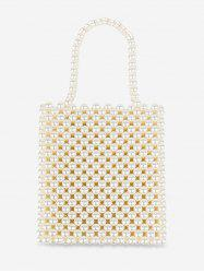 Pearls Knitted Vintage Square Tote -