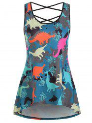 Dinosaur Criss Cross Longline Tank Top -