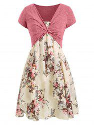 Cami Flower Dress with Crop T-shirt -