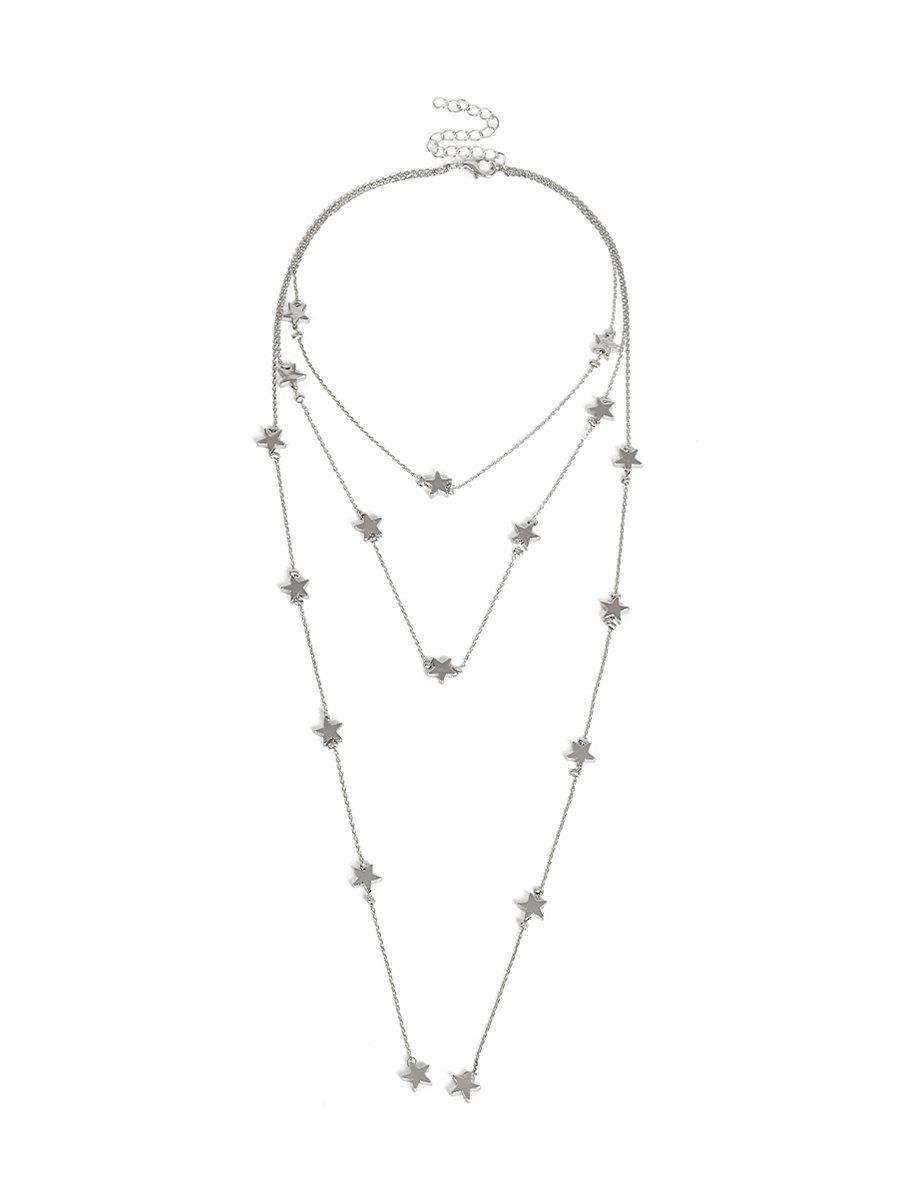 Affordable Multilayer Star Chain Necklace