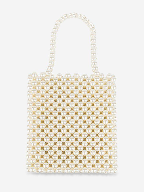 Chic Pearls Knitted Vintage Square Tote
