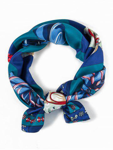 Twill Bowknot Check Pattern Square Scarf