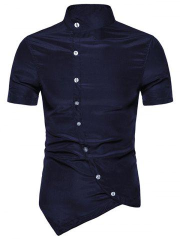 Solid Color Button Up Short Sleeves Shirt