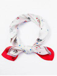 Dog Cat Pattern Square Scarf -