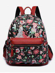 Flower Fairy Print College Backpack -
