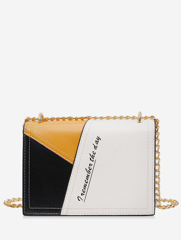 Fancy Character Jointed Square Shoulder Chain Bag