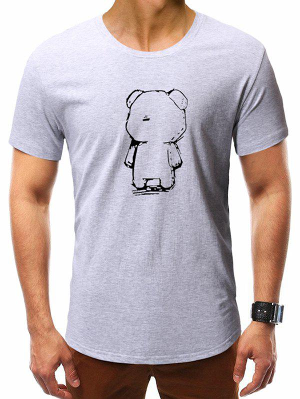 bc32e74bee5d 29% OFF] Abstract Bear Print Casual T-shirt | Rosegal