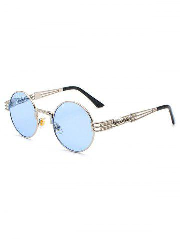 Round Hollow Helix Leg Sunglasses