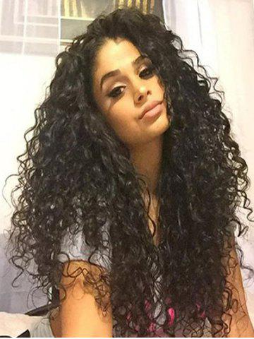 Long Free Part Kinky Curly Synthetic Lace Front Wig