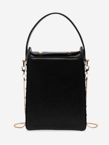 Rectangle Simple Leather Chain Shoulder Bag
