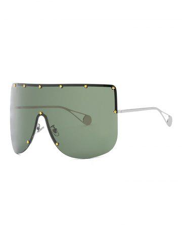 Star Rimless Oversized Sunglasses