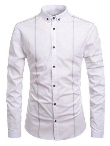 Button Up Solid Color Leisure Shirt