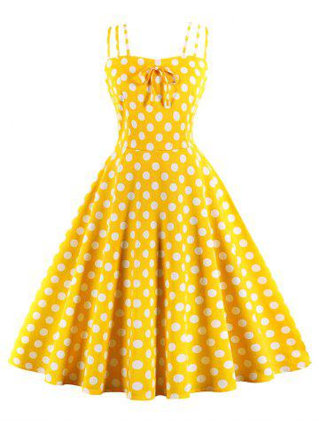 Polka Dot Cami Prom Dress