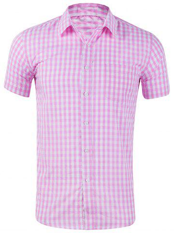 Plaid Print Casual Short Sleeves Shirt