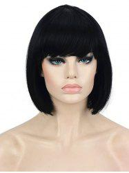Full Bang Short Straight Bob Wig -