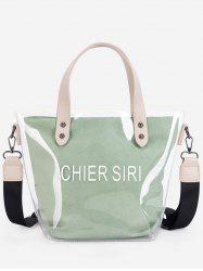 Summer Transparent Character Pattern Tote -