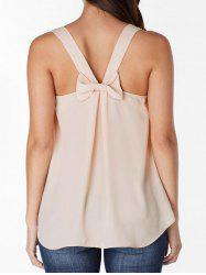 Bowknot Embellished Plain Tank Top -