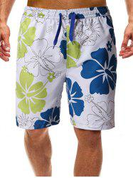 Flowers Print Beach Casual Shorts -