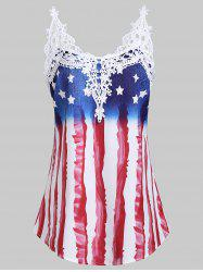 Applique Panel American Flag Tank Top -