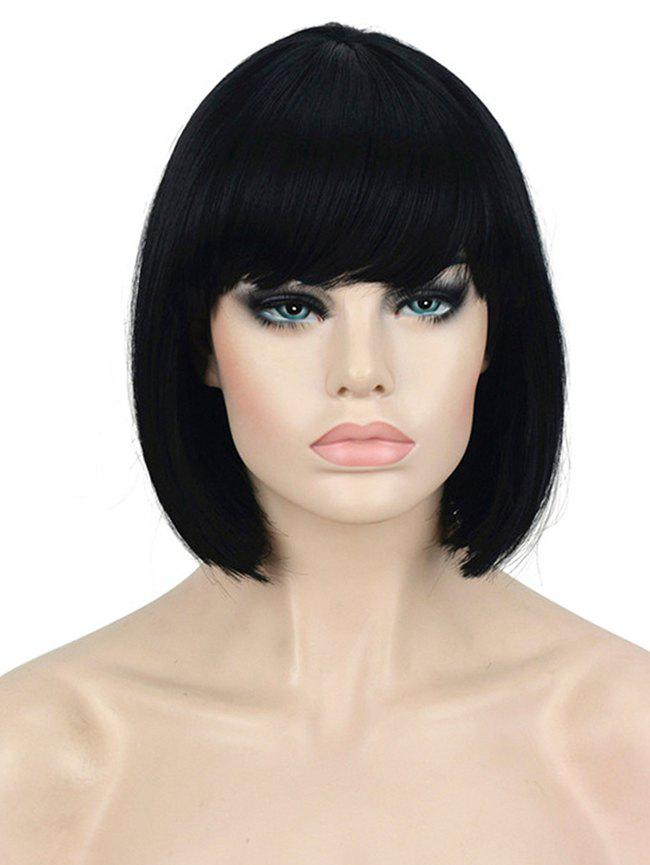 Fancy Full Bang Short Straight Bob Wig