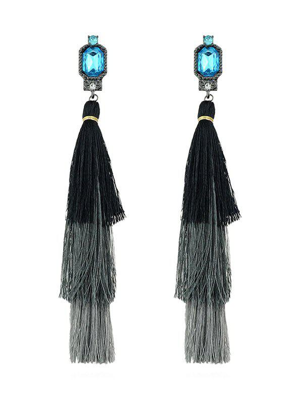Store Pair of Faux Gem Tassel Earrings