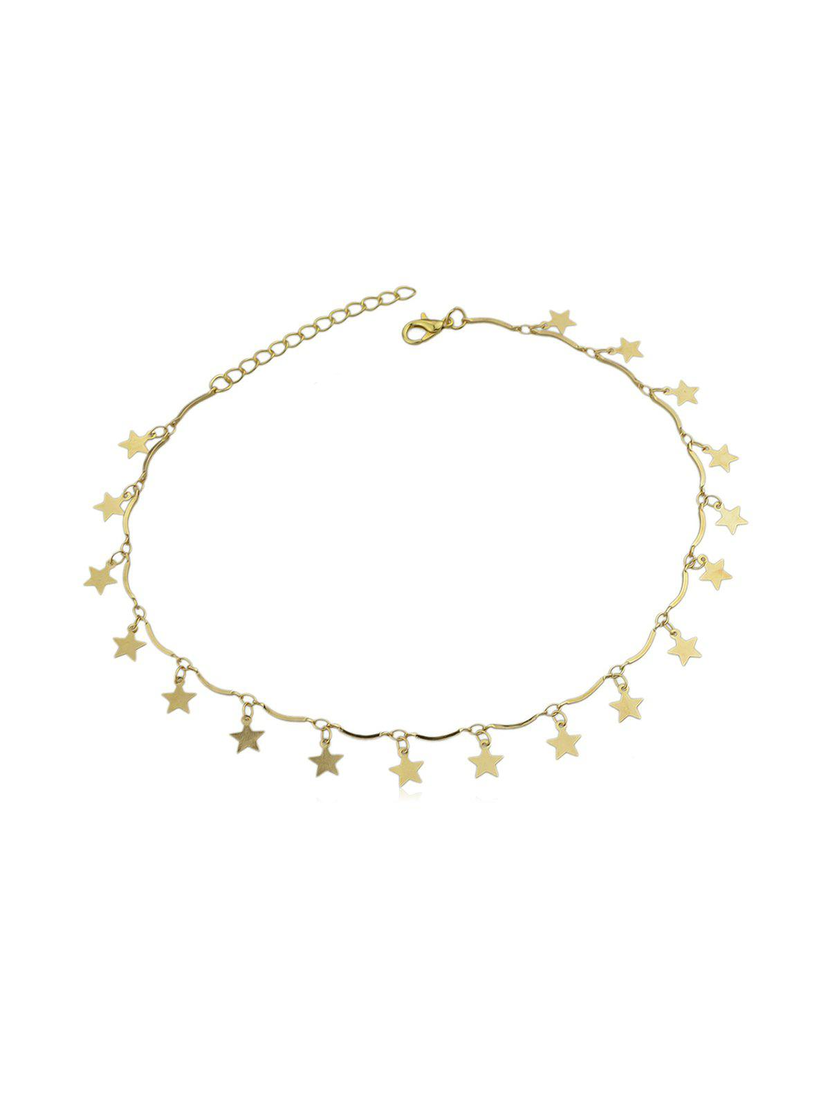 Collier Charmant Simple Etoile Or