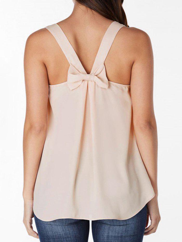 Cheap Bowknot Embellished Plain Tank Top