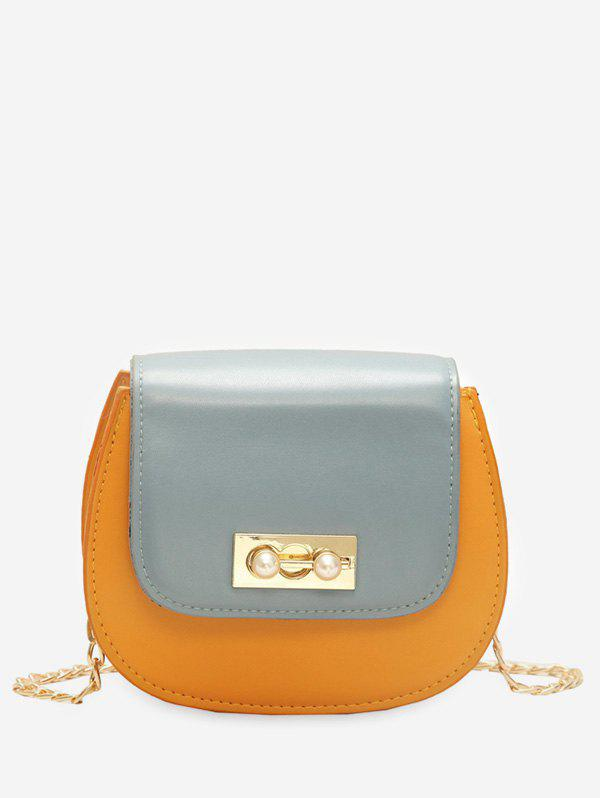 Store Faux Pearl PU Leather Flap Crossbody Bag