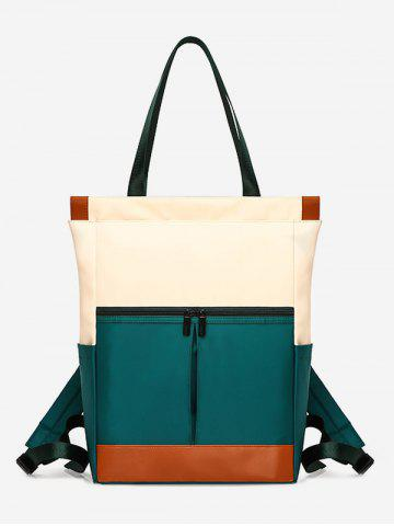Nylon Big Square Pockets Tote