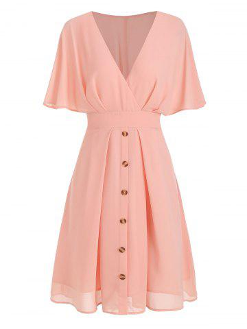 Surplice Plunge A Line Dress