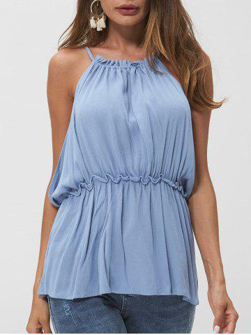 Frill Open Back Tank Top