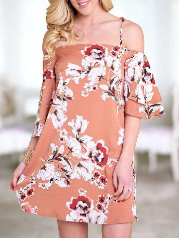 Flower Bell Sleeve Cami Dress