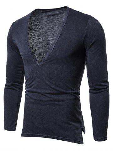 Solid Color Long Sleeves T-shirt