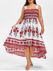 Plus Size Smocked High Low Dress -