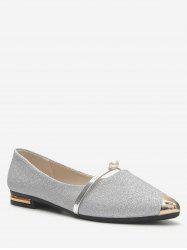 Shiny Pointed Toe Flats -