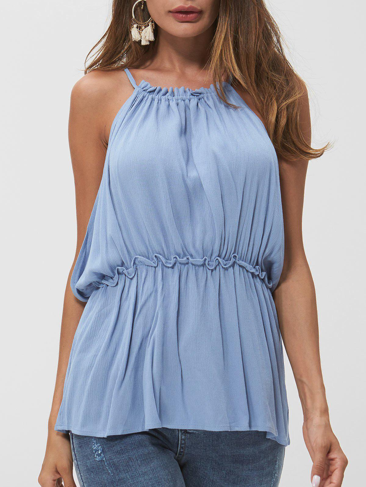 Outfits Frill Open Back Tank Top